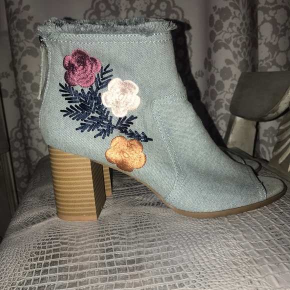 Denim Booties by Dominique Nicole